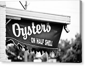 Oysters On Half Shell Canvas Print by Scott Pellegrin