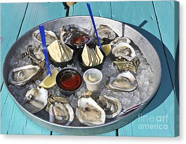 Oysters Canvas Print by Sophie Vigneault
