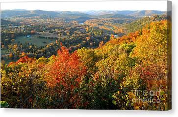 Ozark Autumn White River Valley - Arkansas/missouri Line Canvas Print by Gerald MacLennon