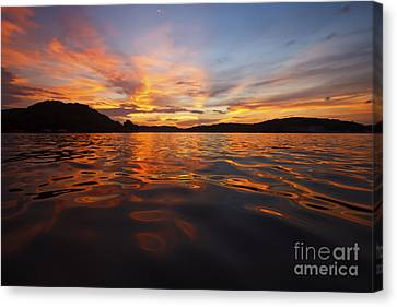 Ozark Sunset Canvas Print by Dennis Hedberg