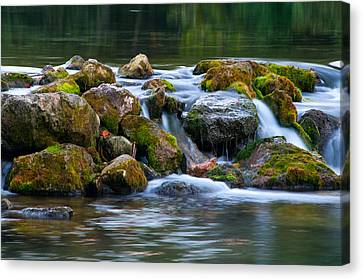 Ozark Waterfall Canvas Print by Steve Stuller
