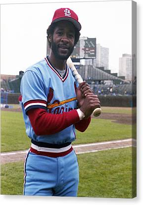 Ozzie Smith By George Brace Canvas Print