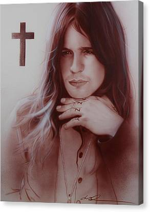 ' Ozzy Osbourne ' Canvas Print by Christian Chapman Art