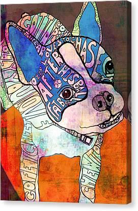 Ozzy The Wonder Dog Canvas Print