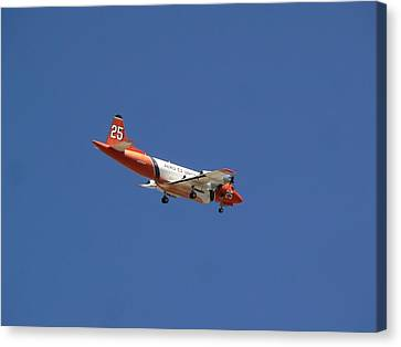 P-3 Orion Hero's Return Day Canvas Print by Deborah Moen