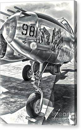 P-38 Airplane Canvas Print by Gregory Dyer