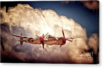 P-38 'dancin' With The Lightning' Canvas Print