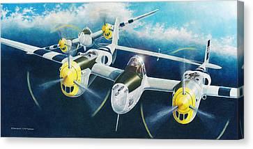 P-38 Lightnings Canvas Print