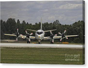 P-3c Orion Of The German Navy Canvas Print by Timm Ziegenthaler