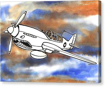 P-40 Warhawk 1 Canvas Print