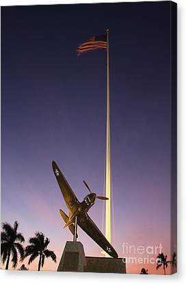 P-40 Warhawk Memorial Canvas Print