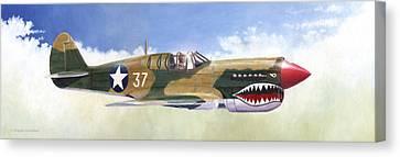 P-40e Warhawk Canvas Print by Douglas Castleman