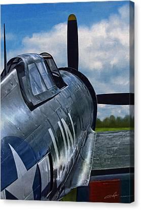 Dale Jackson Canvas Print - P-47 Thunderbolt by Dale Jackson