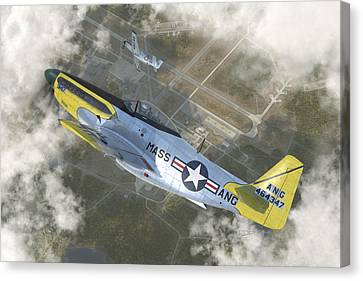 Fighter Canvas Print - P-51 H by Robert Perry