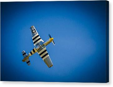 P-51 Invasion Stripes Canvas Print by Bradley Clay
