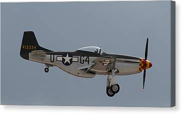 P-51 Landing Configuration Canvas Print by John Daly