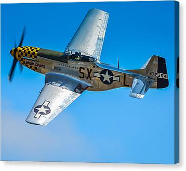 P-51 Mustang Break Out Roll Canvas Print by Puget  Exposure