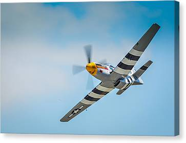 P-51 Mustang Low Pass Canvas Print by Puget  Exposure