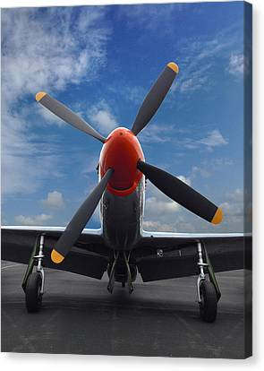 P-51 Ready For Flight Canvas Print by Rod Seel