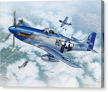 P-51d Mustang The Hawk-eye-owan Canvas Print by Stu Shepherd