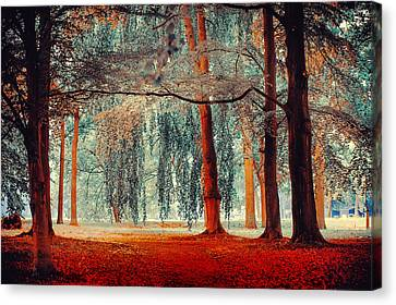 Alien Forest. Nature In Alien Skin Canvas Print by Jenny Rainbow