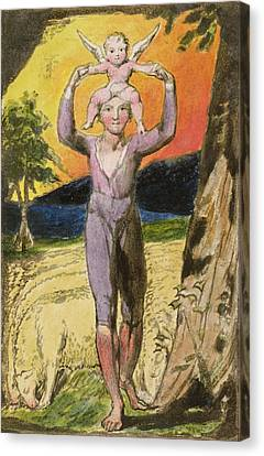 P.124-1950.pt29 Frontispiece To Songs Canvas Print by William Blake