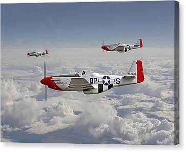 P51 - 334th Fighting Eagles Canvas Print by Pat Speirs