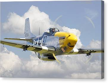 Fighter Canvas Print - P51 Ferocious Frankie by Pat Speirs