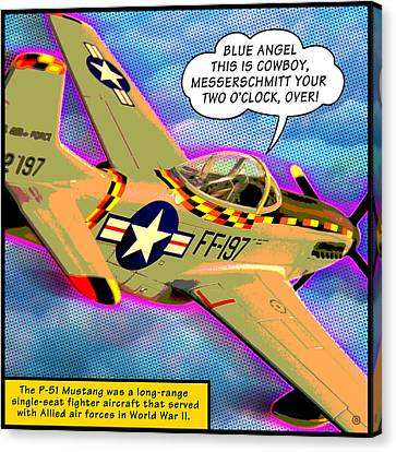 P51 Mustang Canvas Print by Gary Grayson