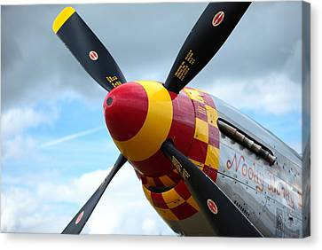 P51 Propeller Canvas Print by Remy NININ