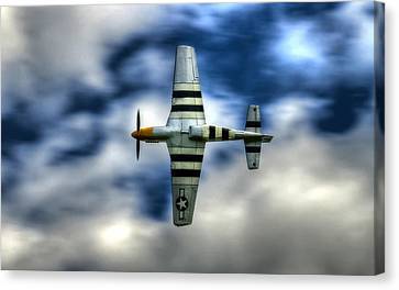 P51d Mustang Ferocious Frankie Canvas Print by Phil 'motography' Clark