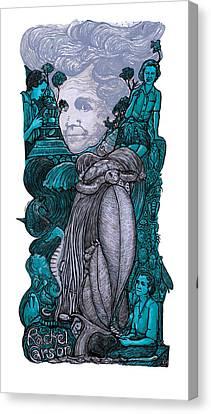 P846 Rachel Carson Canvas Print by Ricardo Levins Morales