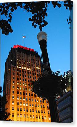 Pa Power Light And Allentown Symbol Canvas Print by Jacqueline M Lewis