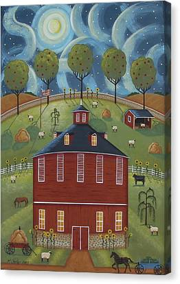 Pa Round Barn Canvas Print by Mary Charles
