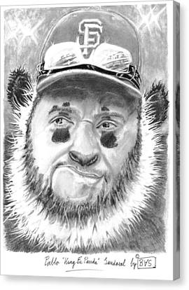 Pablo Kung Fu Panda Sandoval Canvas Print by Bas Van Sloten