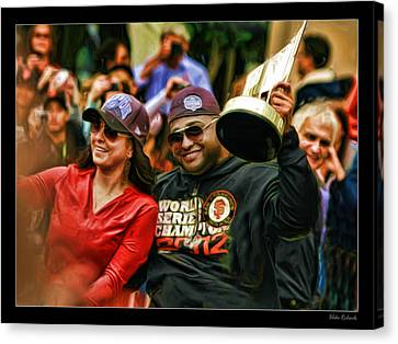 Pablo Sandoval Canvas Print - Pablo Sandoval World Series Vip 2012 by Blake Richards
