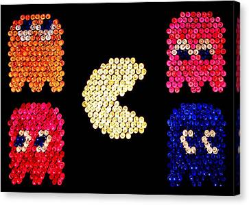 Pac-brite Canvas Print by Benjamin Yeager