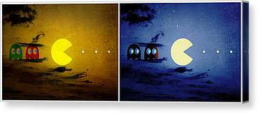 Pac-scape Orizontal Diptych Canvas Print by Filippo B