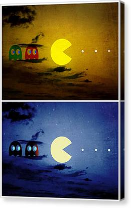 Pac-scape Vertical Diptych Canvas Print by Filippo B