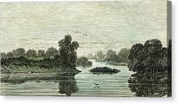 Pachitea River 1869 Peru Canvas Print by Peruvian School