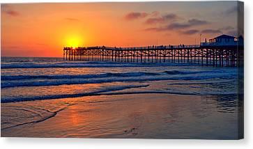 Pacific Beach Pier - Ex Lrg - Widescreen Canvas Print
