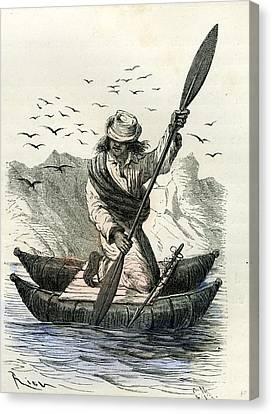 Pacific Coast Fisher 1869 Peru Canvas Print by Peruvian School