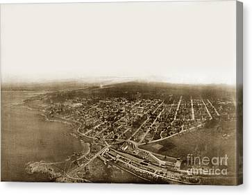 Pacific Grove 1200 From Feet Above Lovers Point And Monterey Bay 1906 Canvas Print