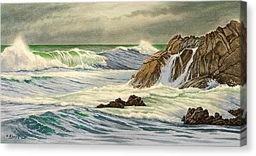 Pacific Grove Seascape Canvas Print by Paul Krapf
