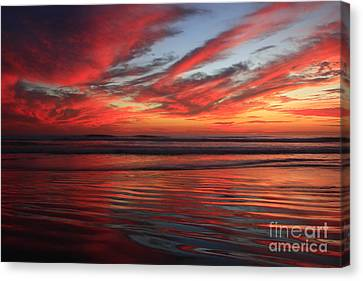 Canvas Print featuring the photograph Oceanside Reflections by John F Tsumas