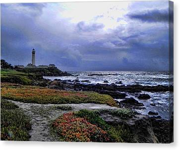 Canvas Print featuring the photograph Pacific Lighthouse by Kathy Churchman