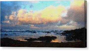 Pacific Morning Canvas Print by Jenny Armitage
