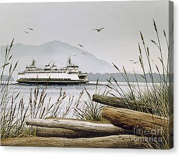 Pacific Northwest Ferry Canvas Print - Pacific Northwest Ferry by James Williamson