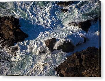 Sonoma Coast Canvas Print - Pacific Ocean Against Rocks by Garry Gay