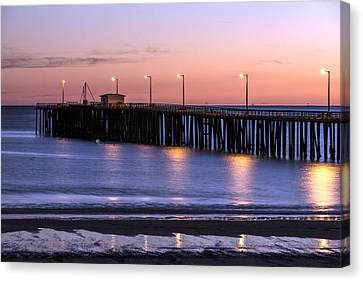 Pacific Ocean At The Pismo Beach Pier  Canvas Print